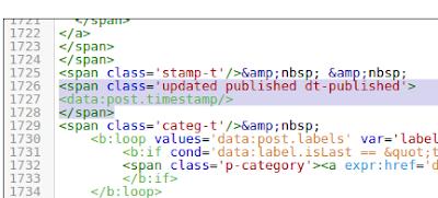 Contoh penerapan script updated pada template blogger