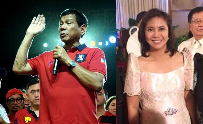 There will be no joint inauguration ceremony for Duterte and Robredo.