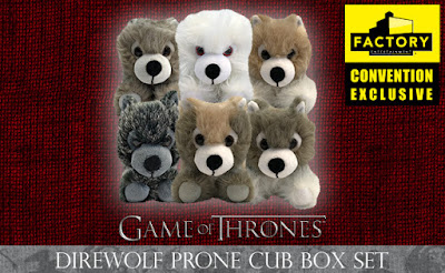 San Diego Comic-Con 2018 Exclusive Game Of Thrones Direwolf Prone Cub Plush Doll Box Set by Factory Entertainment