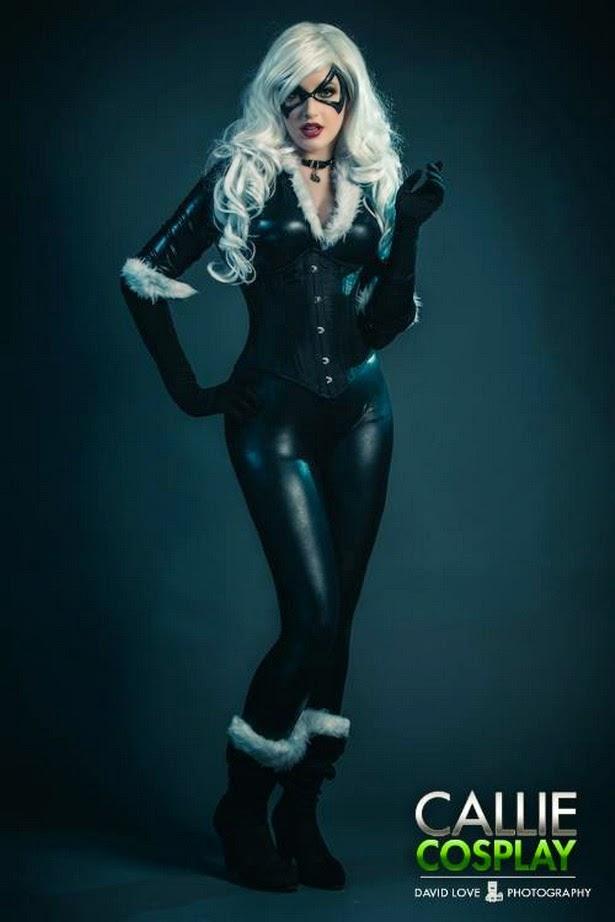 Callie Cosplay es la Gata Negra (Marvel)