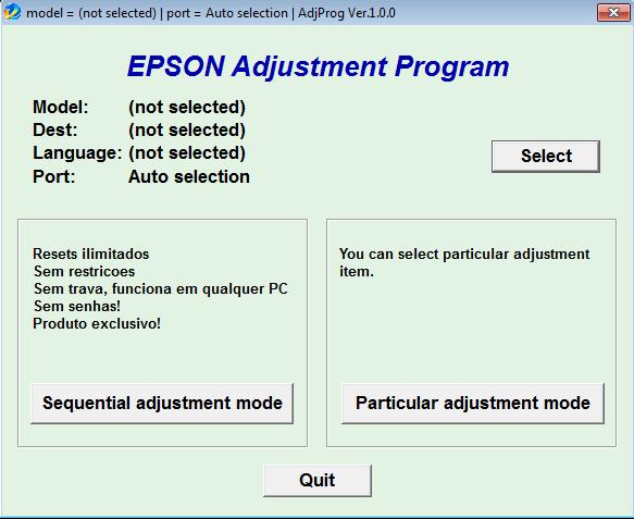 Epson adjustment program