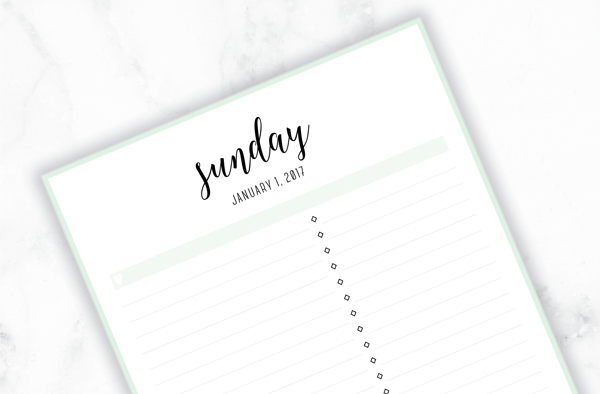 Free Printable Irma 2017 Daily Planner // Eliza Ellis. Available in 6 colors and in both A4 and A5 sizes. Daily, weekly and monthly diaries, planners and calendars also available.