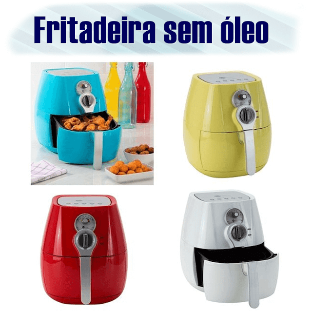 Fritadeira Fun Kitchen coloridas