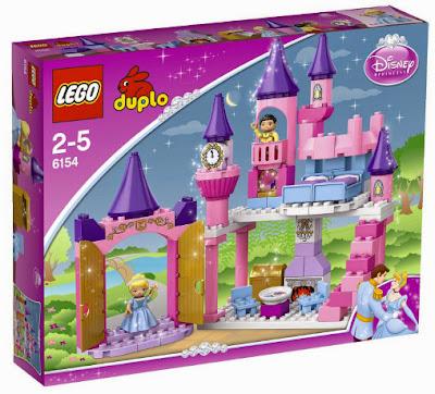 JUGUETES - LEGO Duplo : Princesas Disney   6154 El Palacio de Cenicienta  Producto Oficial | Piezas: 77 | Edad: 2-5 años