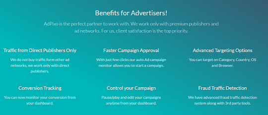advertisers, benefits, adpixo, popads