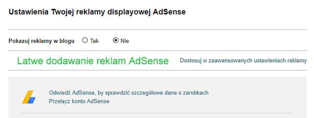 Blogger, blogspot, dodawanie reklam AdSense.