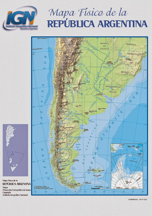 Mapa físico da Argentina