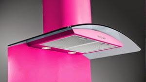 pink cooker hood