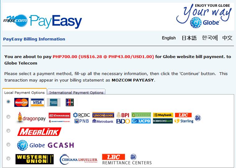 Globe Telecom Offers Direct Online Bills Payment ~ SCRATCH e