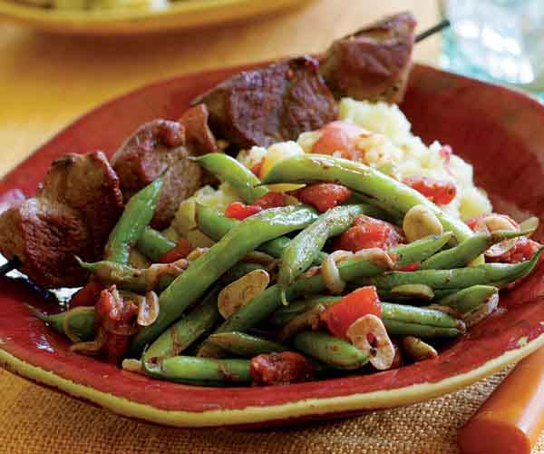 Spiced Green Beans Braised With Tomato & Onions Recipe