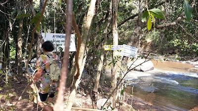 acesso Cachoeira do Sossego