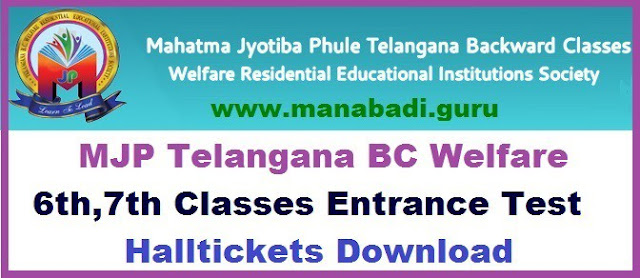 TS BC Welfare, 6th,7th Class Hall tickets, mjpabcwreis,TS Hall tickets