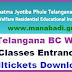 TS BC Welfare 6th,7th Class Hall tickets 2017 Download now from mjpabcwreis.cgg.gov.in