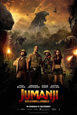 nos vamos al cine, cartelera, cine, película, aventuras, fantástico, comedia, cine familiar, video juego, jumanji, welcome to the jungle, bienvenidos a la jungla,