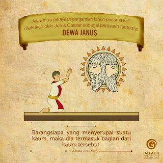 Tahun baru masehi adalah penyembahan dewa Janus