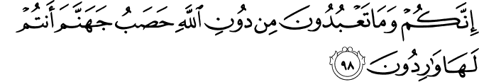 Surat Al Anbiya Ayat 98
