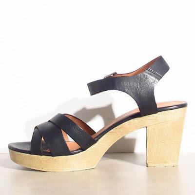 sandales Sessun Oro noires soldes
