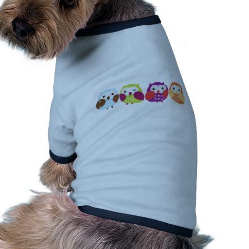 roupa para cachorro; roupa para cachorro com estampa de coruja