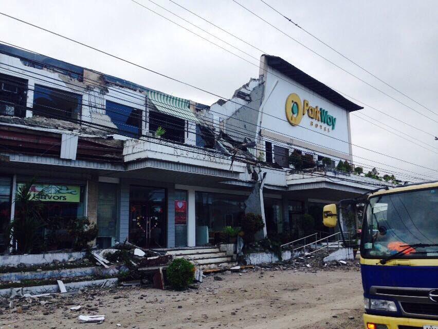 Parkway Hotel damage Surigao quake