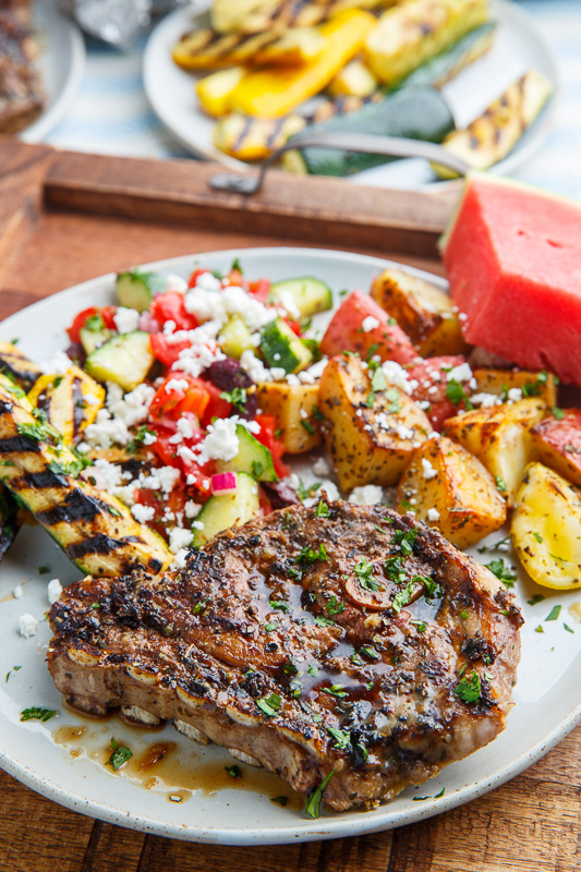 ... , potatoes, salad and watermelon for a full meal cooked on the grill