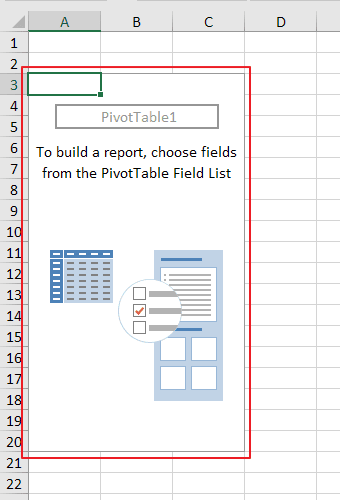 Create a blank PivotTable