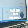 Bisakah Page One Tanpa Membangun Backlinks?