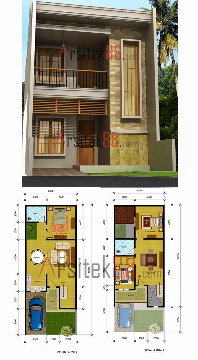 60 Desain Rumah Minimalis 6 X 15 Desain Rumah Minimalis Terbaru
