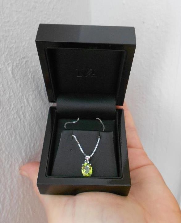 Majesty Diamonds Green Peridot Gemstone Necklace