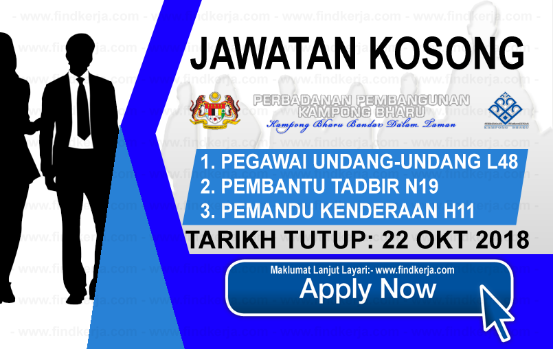 Jawatan Kerja Kosong PKB - Perbadanan Pembangunan Kampong Bharu logo www.ohjob.info www.findkerja.com oktober 2018