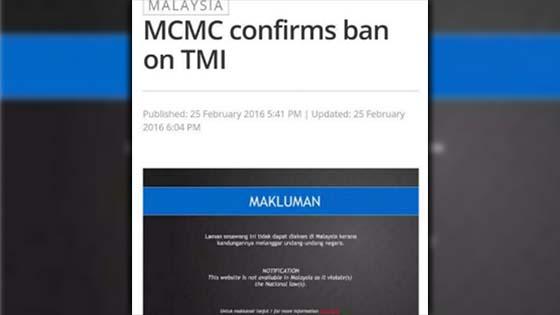 SKMM Sekat The Malaysian Insider