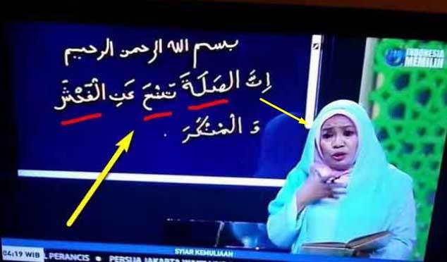 Fatal Salah Tulis Ayat Alquran, Ustazah Metro TV Minta Maaf Tak akan Ulang Lagi