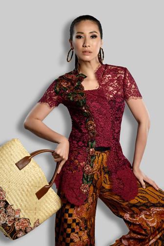 Contoh Baju Batik Kombinasi Brokat