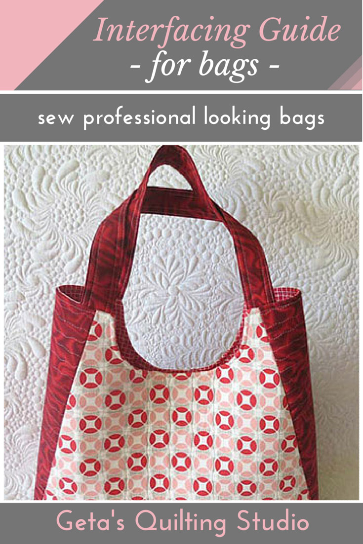 Interfacing Guide for Bags - Geta's Quilting Studio