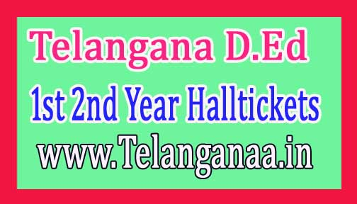 Telangana TS D.Ed 1st 2nd Year 2016 Hall Tickets Released Download Here