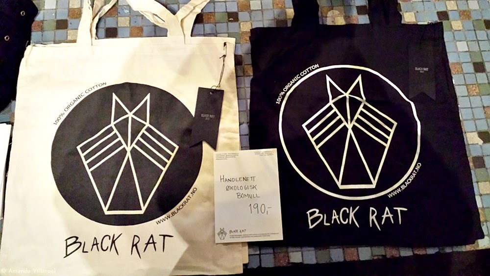Cotton shopping tote bags made by Black Rat/Siri Sveen Haaland