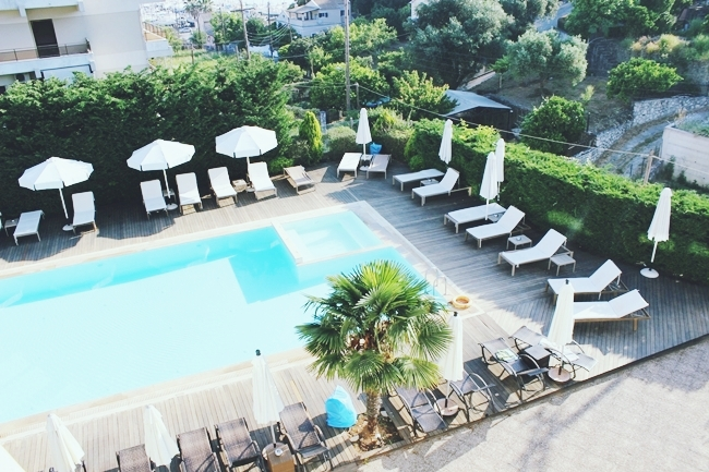 Corfu Mare hotel pool room view
