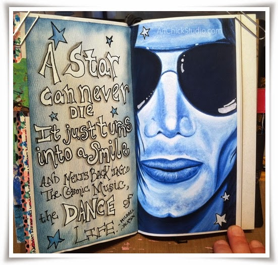 Michael Jackson Star Can Never Die Art Journal page