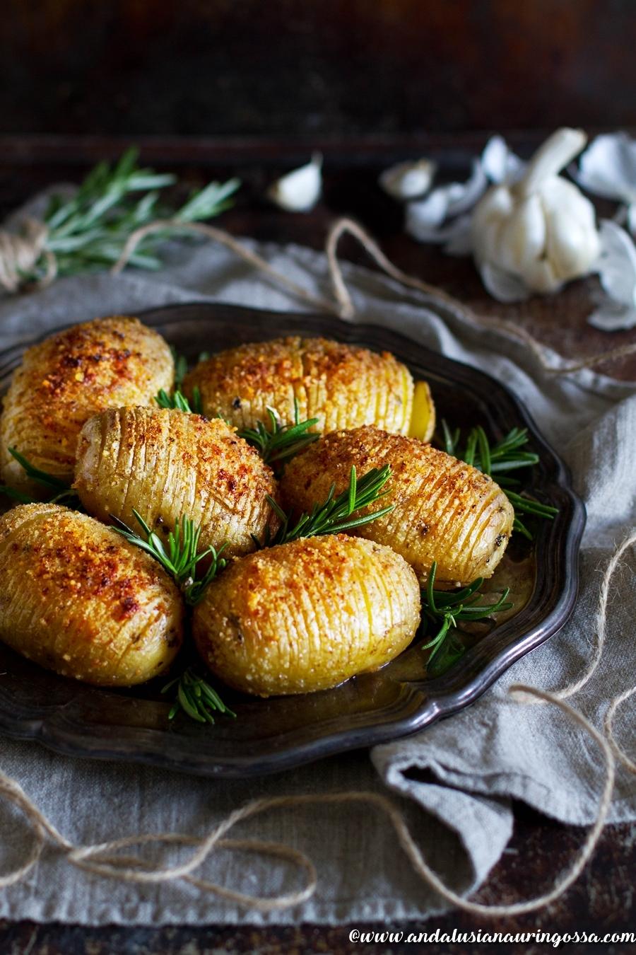 Andalusian auringossa_perunareseptejä ympäri maailman_hasselbackan perunat_gluteeniton_vegaani_kosher