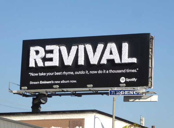 Eminem 3D Revival Spotify billboard
