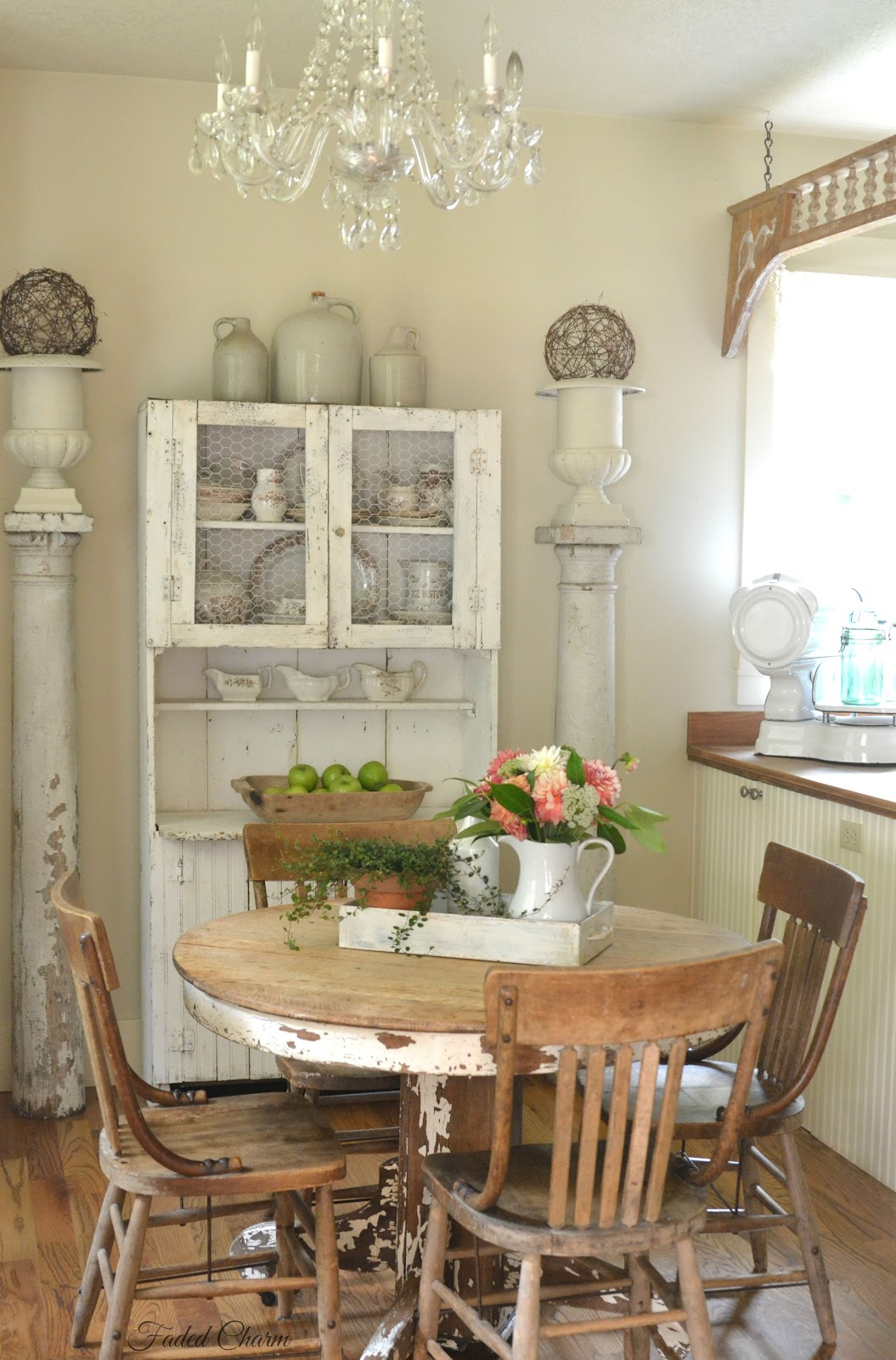 farmhouse fresh decor shabby charm dining country chic cottage decorating table room living faded rooms early fall romantique rustic diy