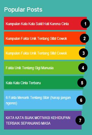 Popular post warna warni widget
