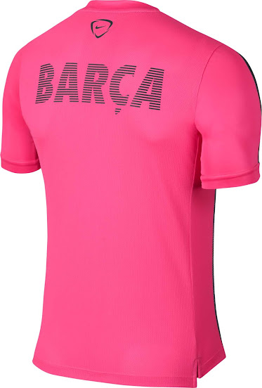 New FC Barcelona 2015 Training and Pre-Match Shirts Released - Footy ... 2a788d34a