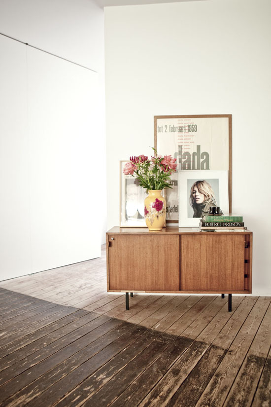 Cute credenza in the home of Fatti and Peter via Milk Magazine.