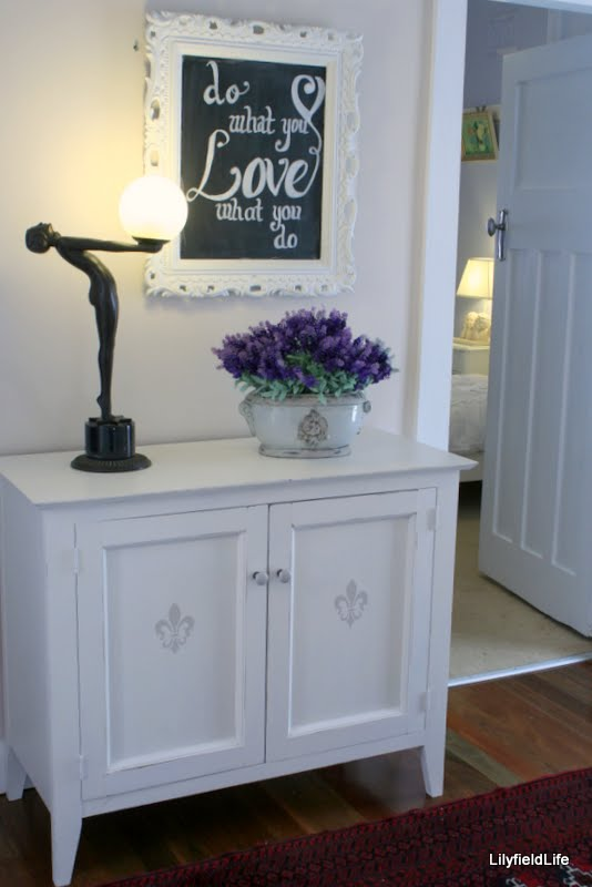 Second Hand Furniture Cabinet Chalkboard Frame French Pot And Through Door Lamp Bedside Table