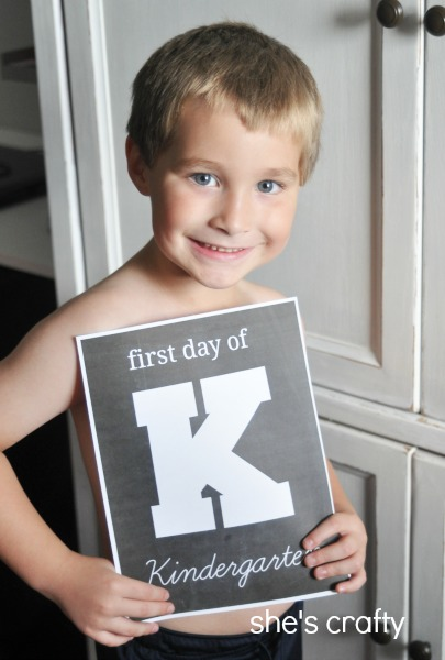 First Day of School free printables with chalkboard background