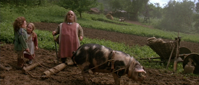Image result for do pigs pull a plow in the movie willow
