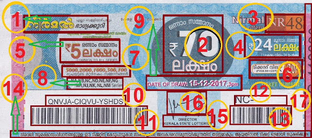 Understanding the ticket of NIRMAL Lottery front view