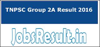 TNPSC Group 2A Result 2016