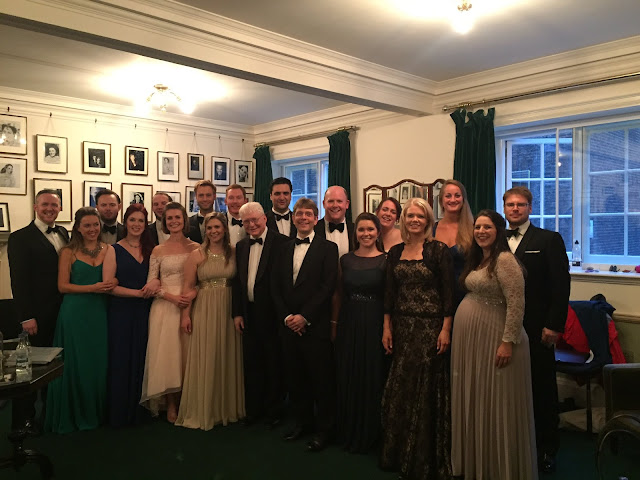 The nineteen performers of Wigmore Hall's A Serenade to Music back-stage after the concert