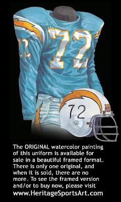 San Diego Chargers 1963 uniform